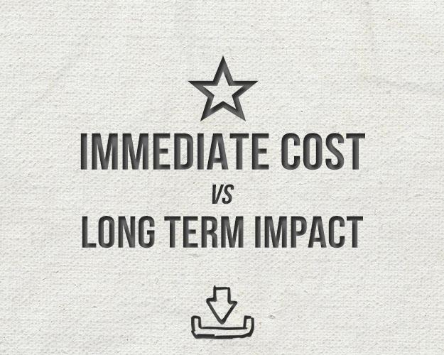 Immediate Costs vs. Long Term Impact Chart